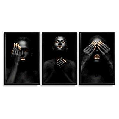 Quadro Decorativo Mulheres Black Gold