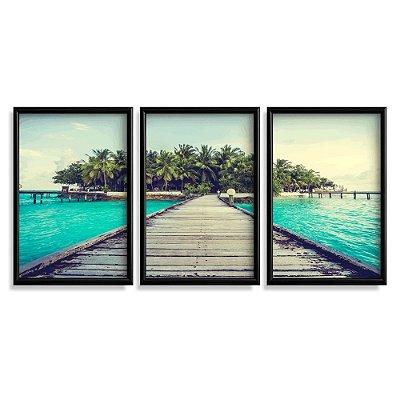 Quadro Decorativo Maldivas