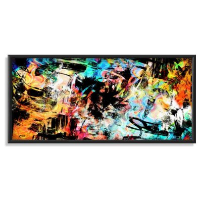 Quadro Decorativo Pintura Abstrata Explosão de Cores