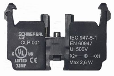 CLP001 SOQUETE PARA LÂMPADA LED BA9S COM PARAFUSO 139009 SCHMERSAL