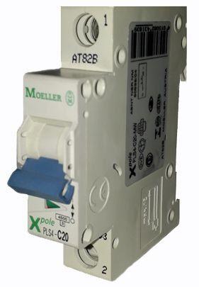 PLS4-C20/1-MW MINI DISJUNTOR 1P 20A 4,5KA CURVA C 243183 MOELLER EATON