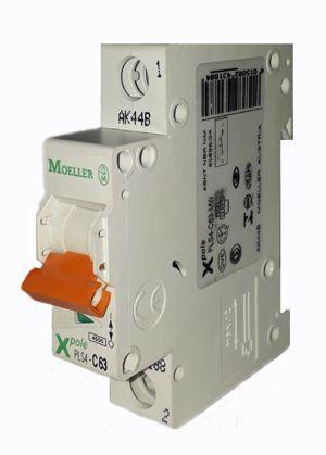 PLS4-C63/1-MW MINI DISJUNTOR 1P 63A 4,5KA CURVA C MOELLER EATON