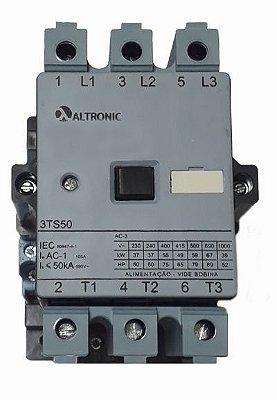3TS50 22-0AN10-0FT0 CONTATOR 105A 220V 50/60HZ 2NA+2NF ALTRONIC