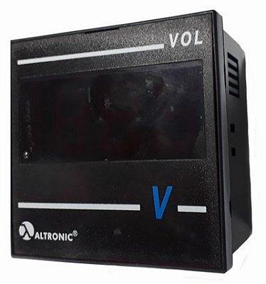 5VOL02D VOLTÍMETRO DIGITAL CL AC DISPLAY DE 3 1/2 DIGITOS (999) 0 A 600VCA - 72X72MM ALTRONIC