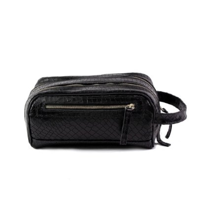 Necessaire Duo Pocket Confort Croco Preto