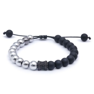 Pulseira Exclusive Onix Hematita 08mm