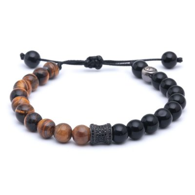 Pulseira Exclusive Tiger Onix Hematita 08mm