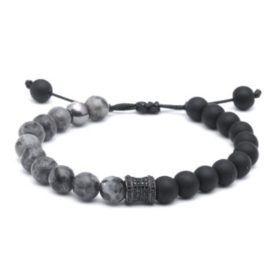 Pulseira Exclusive Onix Jasper Hematita 08mm