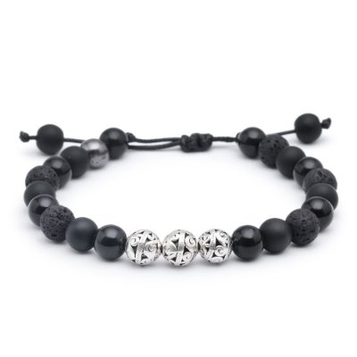 Pulseiras Solid Black Mix 08mm