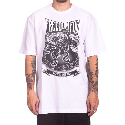Camiseta Freedom Fog - Gorila Branca