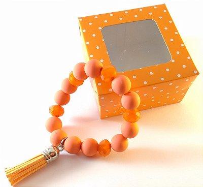 Pulseira Alegria laranja