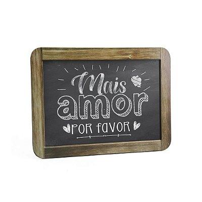 Quadro Decorativo Gizlosofia Mais Amor Por Favor