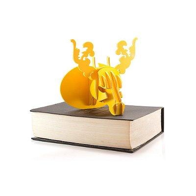 Mini Cabeça Alce Amarela