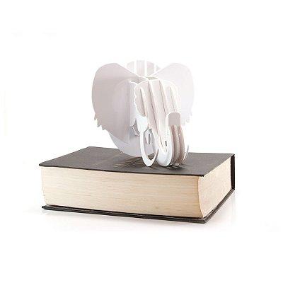 Mini Cabeça Elefante Branco