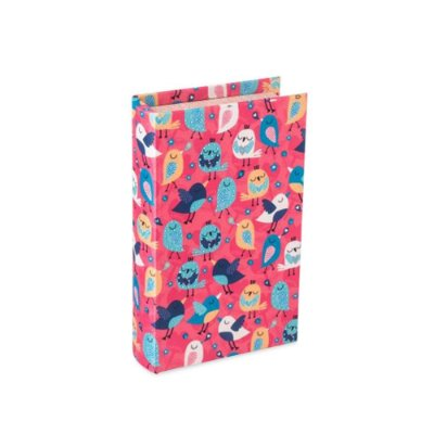 Livro Cofre Passarinhos Composê Rosa