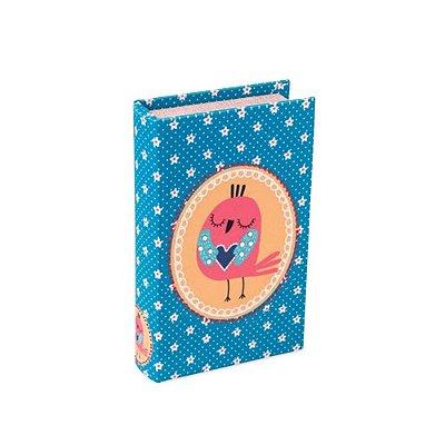Livro Cofre Passarinho Azul
