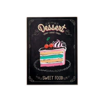Placa Decorativa de Madeira Your Sweet Time 30x40