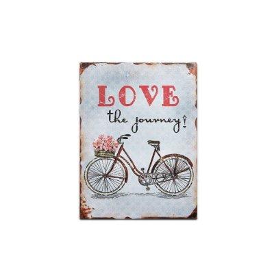 Placa Decorativa de Metal Love the Journey 30x40
