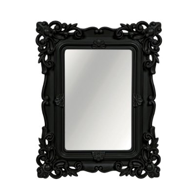 Espelho Decorativo Rococó Preto 20x25