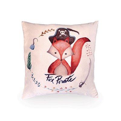 Almofada Fox Pirate Aquarela 45x45