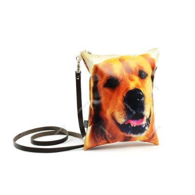 Bolsa Tiracolo Estampada Cachorro Golden Retriever