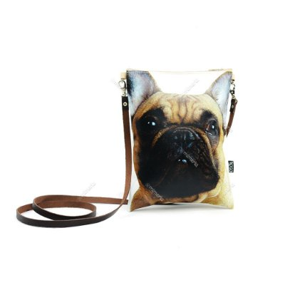 Bolsa Tiracolo Estampada Cachorro Bulldog Francês