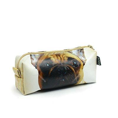 Estojo Estampado Cachoro Bulldog Francês