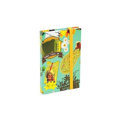 Caderninho Capa Dura com Elástico Povo Unido