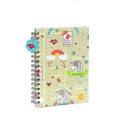 Caderno de Anotações Unicórnios Unika
