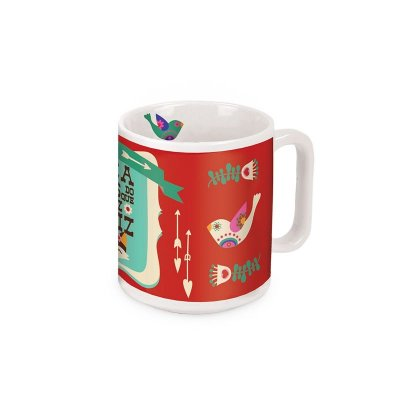 Caneca Decorada Raposas Petit Fox