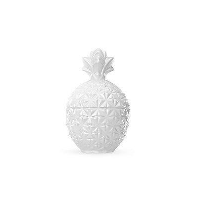 Pote de Vidro Abacaxi Branco Pérola