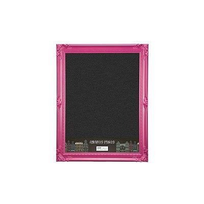 Quadro Negro com Moldura Vintage Rosa 30x40