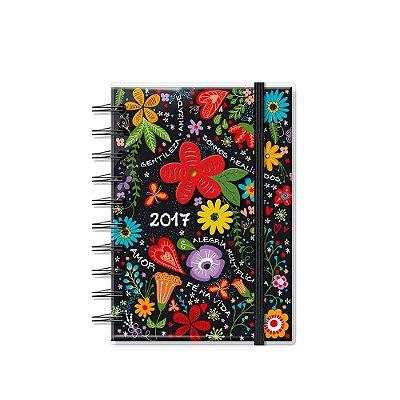 Agenda Pequena Floral Multicores 2017