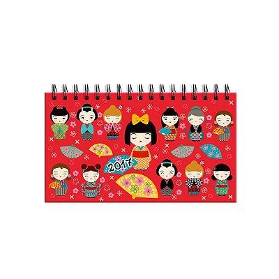 Agenda Mini Kokeshi Vermelha 2017