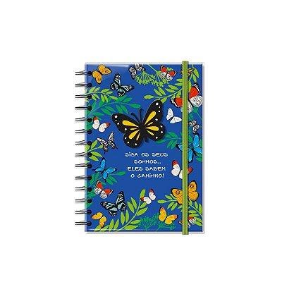 Caderno Médio Decorado Borboletas no Jardim