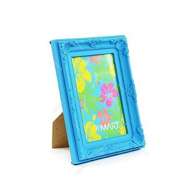 Porta Retrato Vintage Azul Neon 10x15