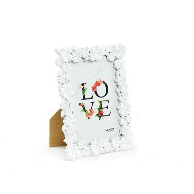 Porta Retrato Floral Branco 10x15