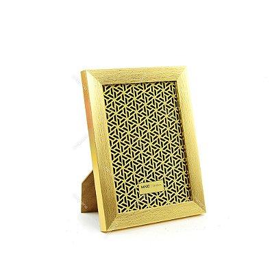 Porta Retrato Dourado Escovado 13x18