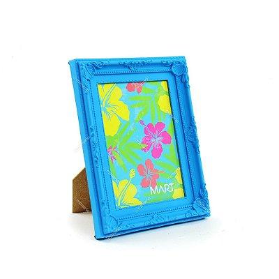 Porta Retrato Vintage Azul Neon 13x18