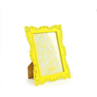 Porta Retrato Ornamentado Amarelo Candy 13x18