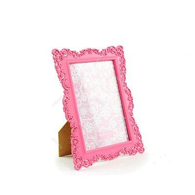 Porta Retrato Ornamentado Rosa Candy 13x18