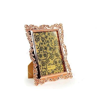 Porta Retrato Ornamentado Cobre 13x18