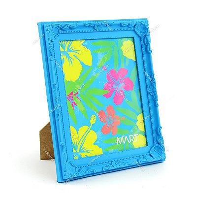 Porta Retrato Vintage Azul Neon 20x25
