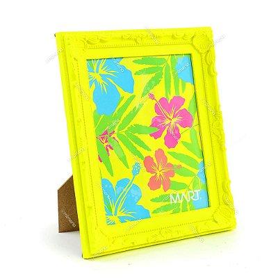 Porta Retrato Vintage Amarelo Neon 20x25