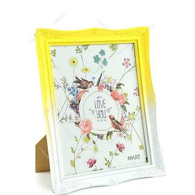 Porta Retrato Vintage Degradê Amarelo Candy 20x25