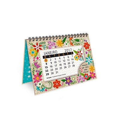 Calendário de Mesa Decorado Flora 2017