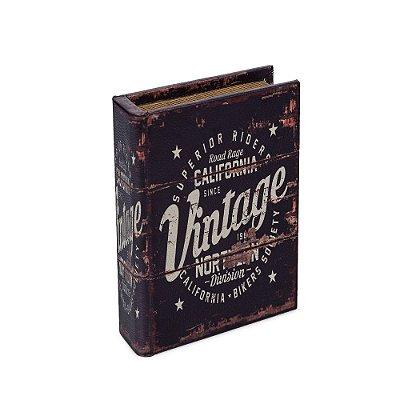 Livro Caixa Pequeno Decorativo Vintage California Bikers