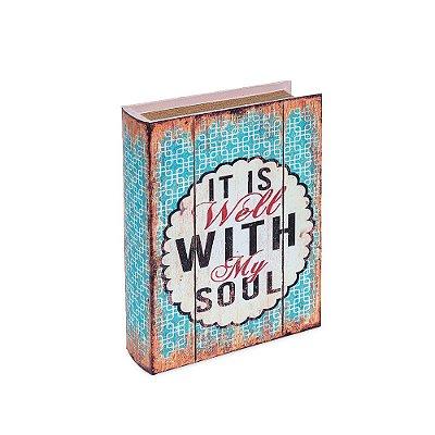 Conjunto 2 Livros Caixa Decorativos Envelhecidos Do With Love