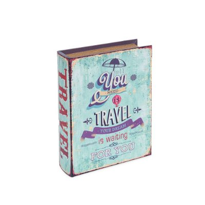 Conjunto 2 Livros Caixa Decorativos All You Need Is Travel