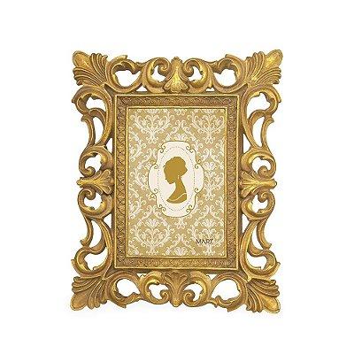 Porta Retrato de Resina Clássico Dourado 10x15
